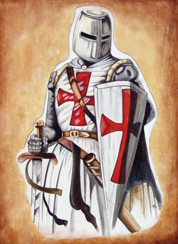 Quadro cavaliere Templare a Cagliari