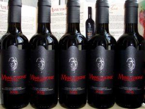 Bottiglie di vino Mamuthone Cannonau