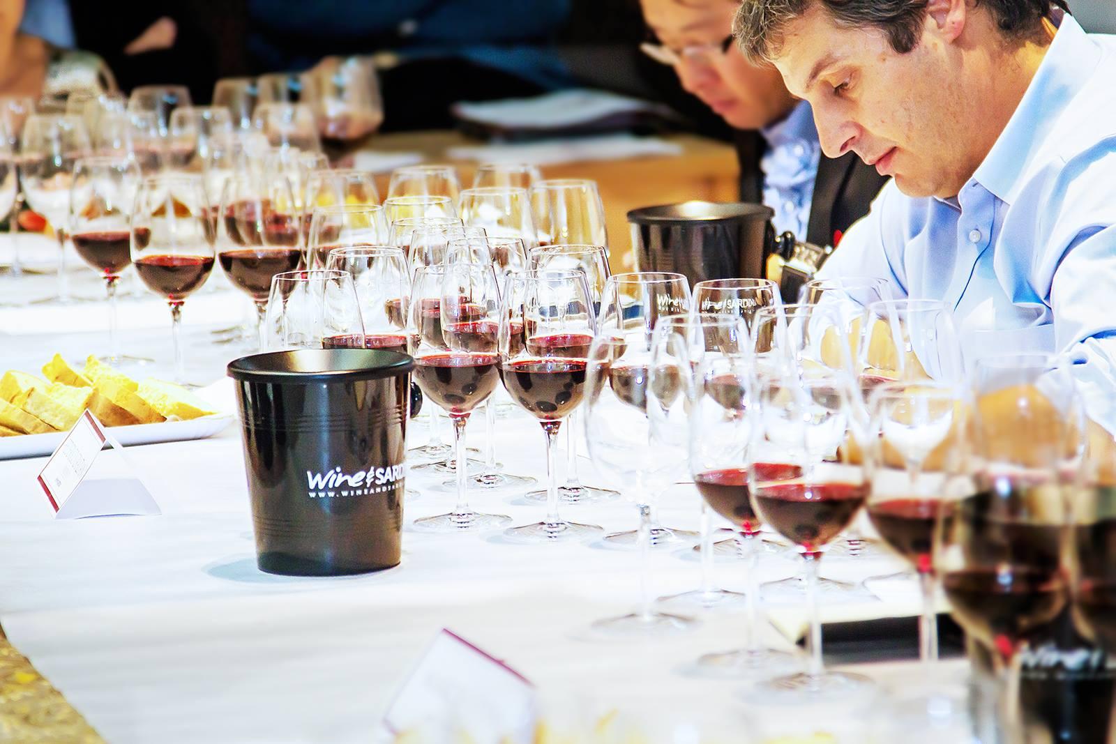 Panel di degustazione Wine And Sardinia 2018