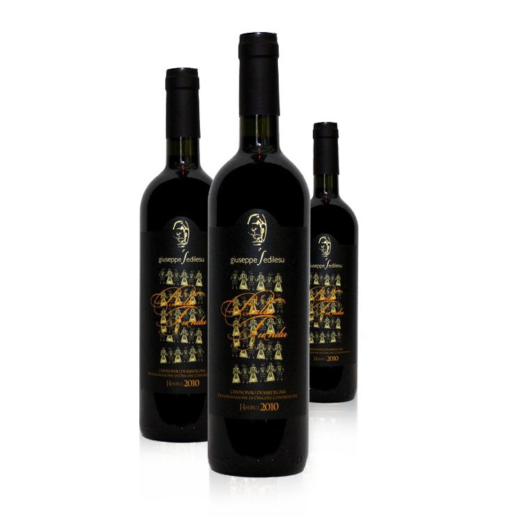 Tre Bottiglie Cannonau Ballu Tundu Sedillsu