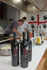 Balente vino in cucina