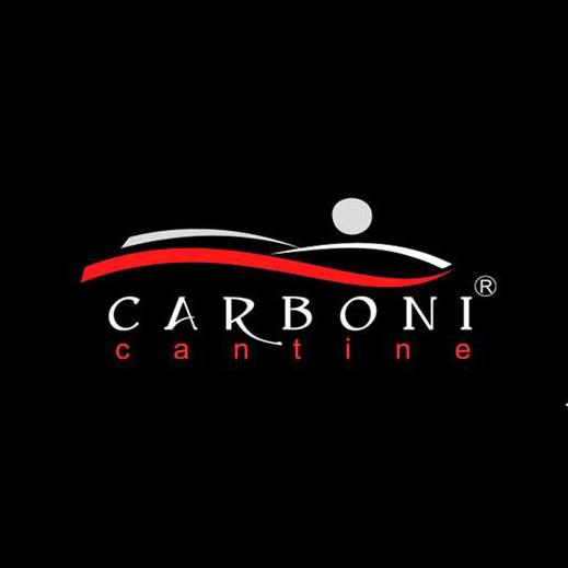 Logo Cantine Carboni su sfondo nero