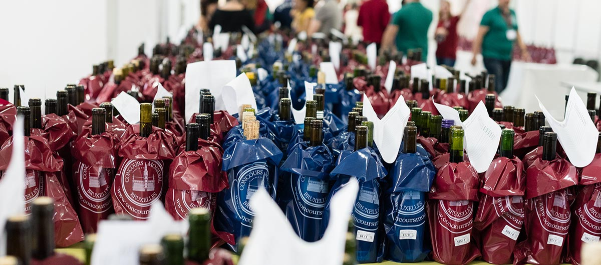 Bottiglie bendate Concours Bruxelles 2017