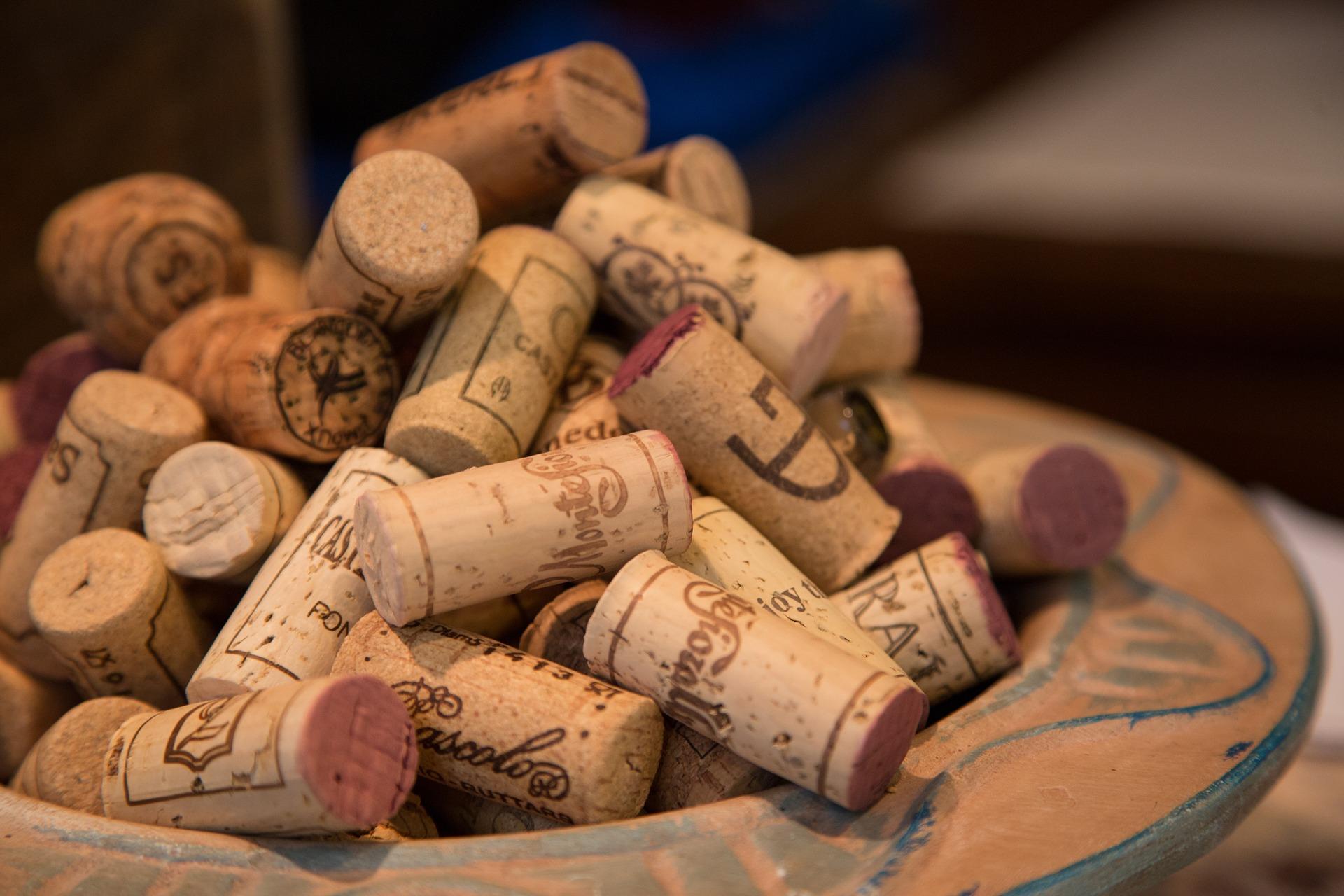 Tappi di sughero per il vino