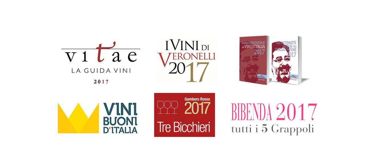 Loghi guide vino italiane