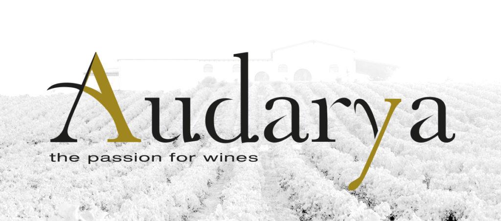Logo Audarya con sfondo vigna