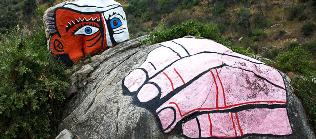 Murales su pietra a Orgosolo