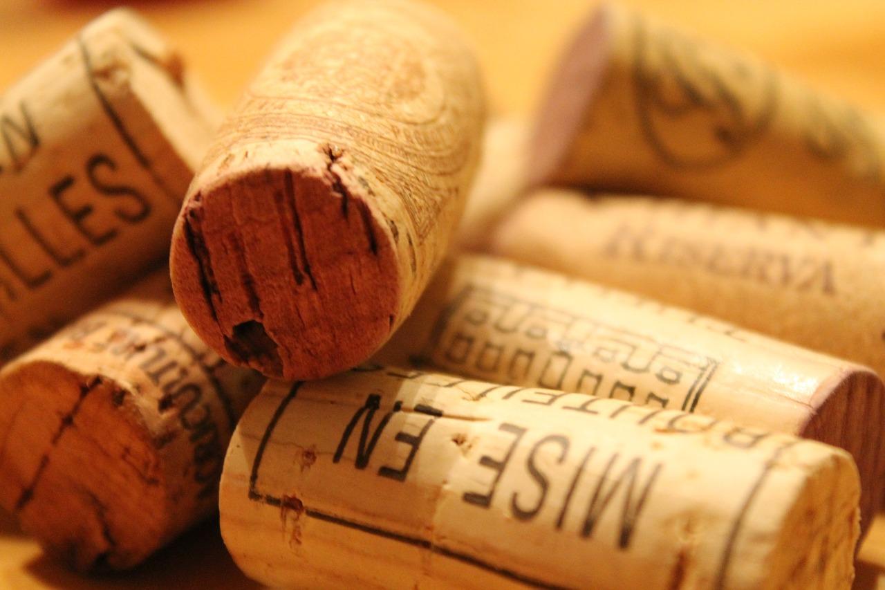 Tappi di sughero vino