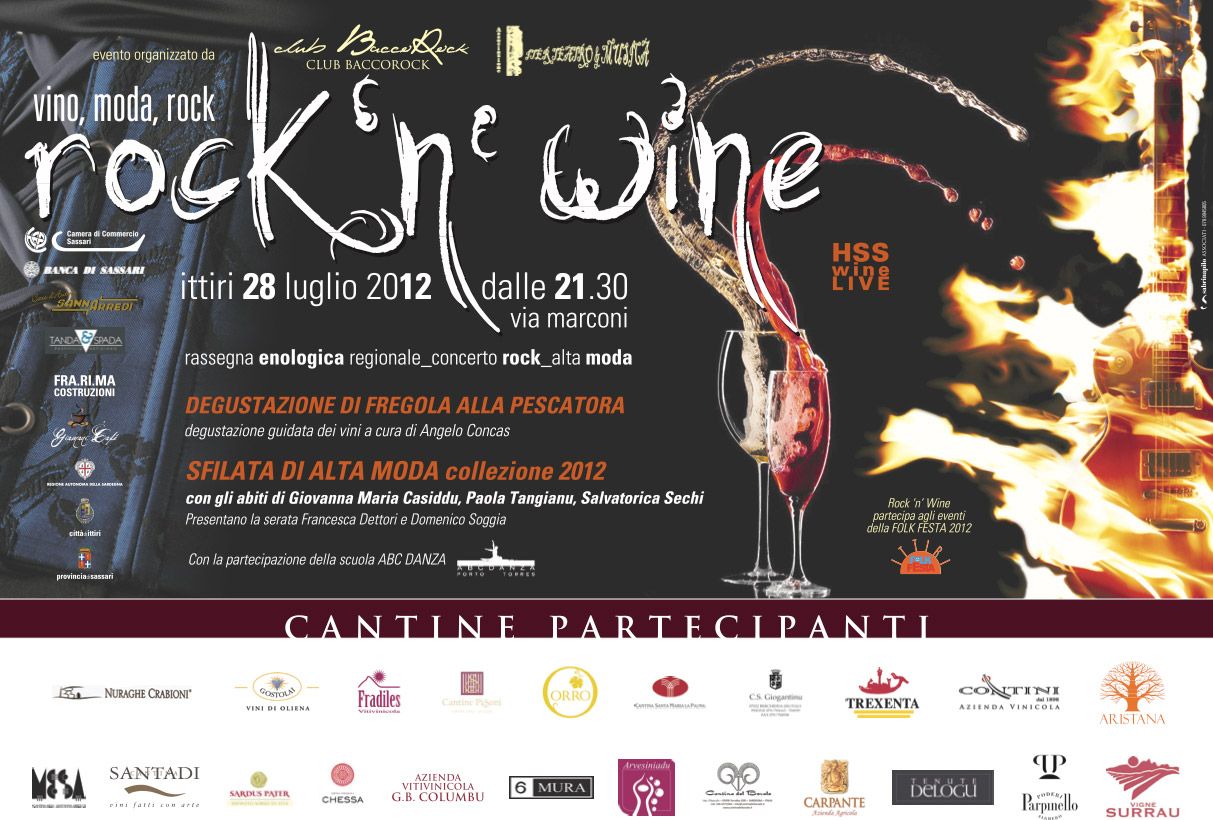 Manifesto Rock&Wine Ittiri 2012