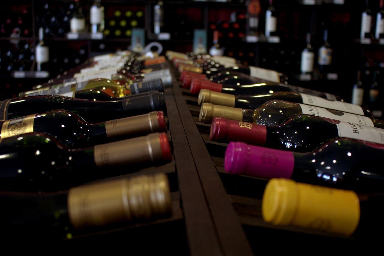 Vini rossi in bottiglia