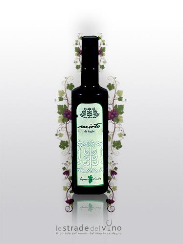 Liquore da Foglie di Mirto Linea Liquori dell'Isola - Ludus - Liquorificio Artigiano Ruggero Leone