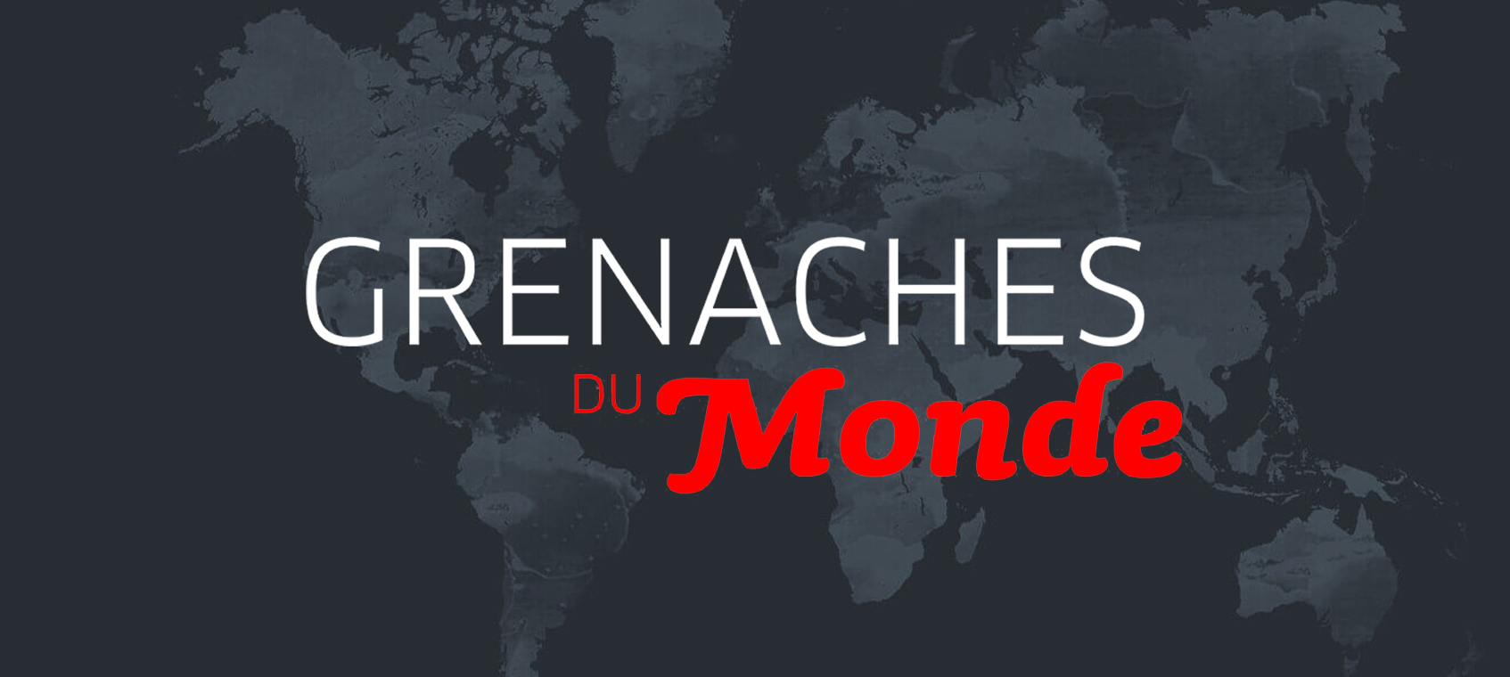 Logo Grenaches du Monde background world