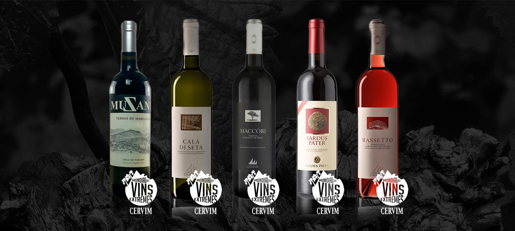 I vini sardi premiati alla 28ª edizione del Mondial des Vins Extrêmes 2020
