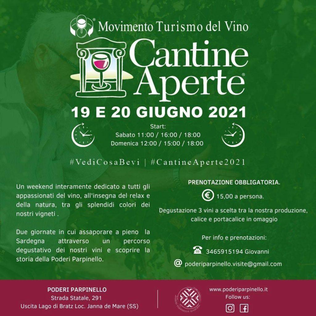 Manifesto Poderi Parpinello Cantine Aperte 2021